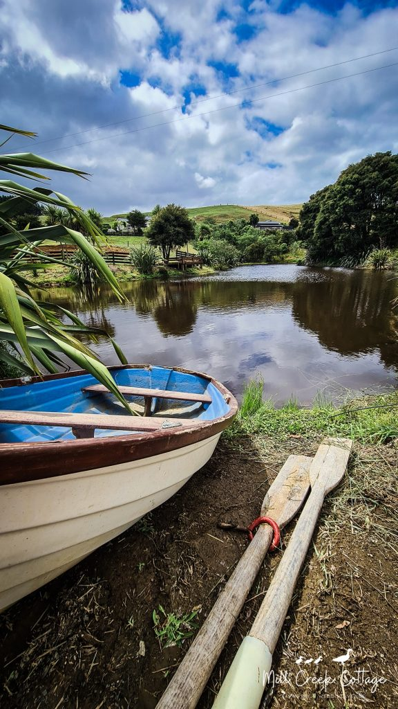 The pond and dinghy